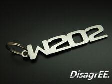 """Schlüsselanhänger """"W202"""" für Mercedes C 200 230 C36 43 55 AMG - Edelstahl"""