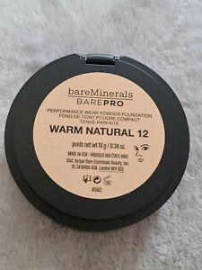 bareMinerals -Feste Foundation Warm Natural 12  - Spiegel Dose - Neu-OVP