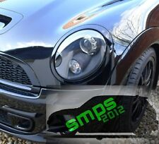 Mini Gen 2 Cooper S JCW R56 headlight covers gloss Black with washer jet covers