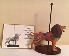 Franklin Mint Treasury Of Carousel Art Porcelain Lion Figurine