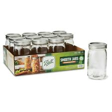 Ball Mason Jars 32 Ounce Wide Mouth Smooth Sided-12 count-1 case