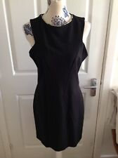 Coast black dress animal print detail on neck Line size 14
