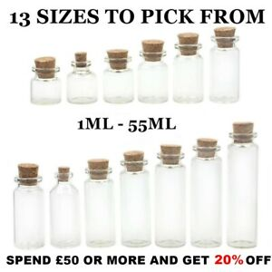 10 x Small Glass Bottles | Miniature Potion Bottle | Mini Glass Vials | Vial