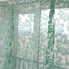 Beauty Floral Tie Up Roman Curtain Shade Small Window Voile Drape Sheer #9