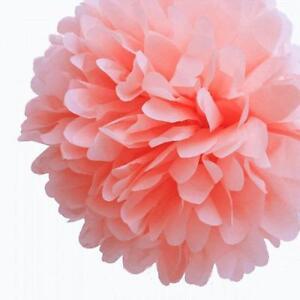 "3X Tissue Paper Color 4"" 8"" 12"" pom pom Flowers Wedding Party Craft Decoration"