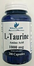 L-Taurine (Free Form) Amino Acid 1000mg 200 Caps Protein Muscle Energy USA Made