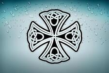 Sticker adesiva adesivi tuning auto celtico trinity triquetra croce knot rA3