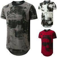 Men's Cotton T Shirt Slim Fit Casual Tops Summer Clothes Bodybuilding Muscle Tee