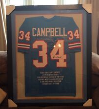 Earl Campbell #34 (Autographed) 35x43 Custom Framed (STAT) Jersey PSA, C.O.A.