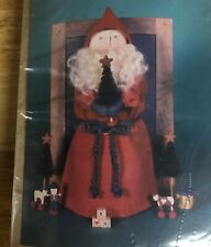 """Rare & Retired Gail Wilson Collectible Kits with tools Painted Cloth 8"""" Santa"""
