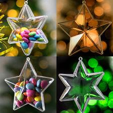 x 10 piezas Estrellas Decoración De Navidad lote TRANSPARENTE BOLAS vacío
