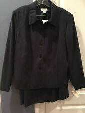 Navy Suit Skirt and Jacket Navy Blue NWT Petite 14W Retail $218