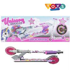 Unicorn Light Up Scooter Inline Foldable LED Wheel Junior Girls Ride Dreamland
