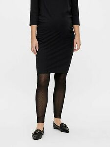 Maternity Mesh Leggings Size 16  Sheer Mamalicious Footless Pregnancy UK SELLER
