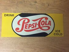 "TIN SIGN ""Pepsi Cola Yellow"" Vintage Decor Mancave Soda Diner Boutique Antique"