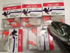 20 Eagle Claw 1/4oz. Striped Glow/Orange Shad Dart Jigs (ECJSD14-OGL) EB050102