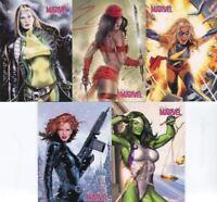 Marvel Women of Marvel Promo Card Set 5 Cards