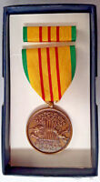Original Boxed lot of 8 US GI Vietnam Service Medal and Ribbon GI ISSUE MIB