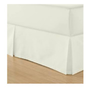 """New Martha Stewart Collection 200TC Cotton Percale TWIN BEDSKIRT Solid 16"""" Drop"""