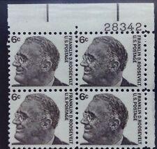 US STAMPS Scott #1284 Roosevelt 6 cent Block of 4  MNH  1/29/1966