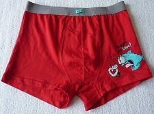 Boxer homme rouge lingerie caleçon sous vêtement taille L (42) neuf