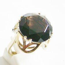 Ring Gold 333 Rauchquarz 8 kt. Goldringe Edelsteine Rauchtopas