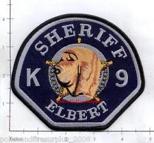 Colorado - Elbert County Sheriff K-9 Police Dept Patch