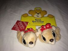 Build a Bear Rudolph the Red-Nosed Reindeer Clarice Slippers NEW NWT