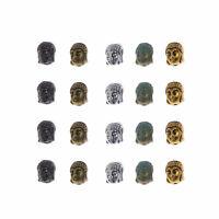 25 Stk Mischen Metall Buddha Kopf Perlen für Schmuckherstellung Charms Anhänger