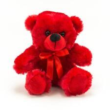 "6"" Red Plush Teddy Bear Stuffed Animal Toy Gift New"