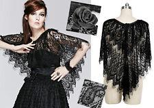 Cape poncho châle dentelle gothique lolita baroque victorien rose noire Punkrave