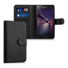 kwmobile Wallet Schutz Hülle für Samsung Galaxy S2 S2 PLUS Schwarz Kunstleder
