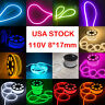 110V LED Flex Neon Rope Light Waterproof Wedding Party Sign Home Xmas Gift Decor
