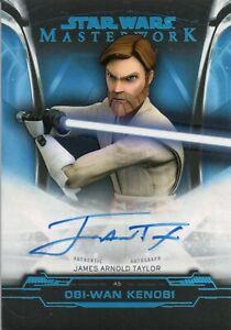 Star Wars Masterwork 2019, James Taylor 'Obi-Wan' Autograph Card A-JAT #70/99