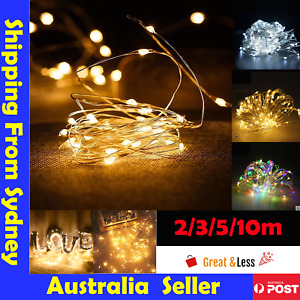2-10 M Battery Powered Copper Wire String Fairy Xmas Party Lights