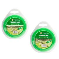 2 x 15M STRONG STRIMMER LINE Electric Cord Wire Garden Grass Trimmer Cut 2mm