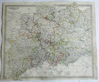 German States Hanover Mecklenburg Saxony Prussia 1833 SDUK detailed antique map
