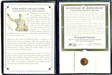 Ancient Roman Bronze Portrait Coin of a Roman Emperor, Album,Story, Certificate