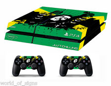 PS4 vinyl Skin Stickers bob marley flag style for Console & 2 controllers