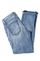 Current/Elliott Women's Distressed Cropped Jeans Cotton Blue Size 23
