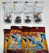 HEROCLIX YU-GI-OH SERIES 1 LOT OF (4) CARDS ARE DAMAGED #D JUST AS PICTURED