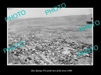OLD LARGE HISTORIC PHOTO OF ALICE SPRINGS NORTHERN TERRITORY, AERIAL VIEW 1960 1