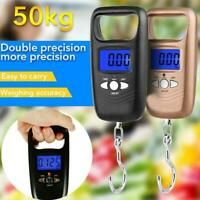 Portable Hanging Fishing Scale Digital Pocket Weight Electronic Hook 50kg T1Y5