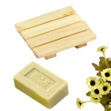 Natural Wood Wooden Soap Dish Storage Tray Holder Bath Shower Plate Bathroom