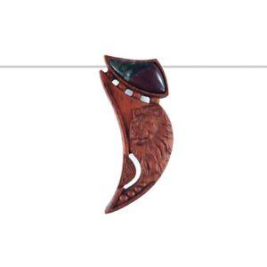 Carved Lion WOOD Designer Bead GM700006