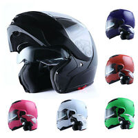1STorm DOT Motorcycle Bike Modular Flip up Full Face Helmet Sun Visor Dual Lens