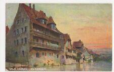 Germany, Old Houses Nuremberg Art Postcard, B237
