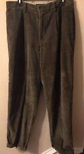 Tommy Hilfiger Mens Corduroy Pants 33/32 Olive Green Slacks Pockets Belt Loops