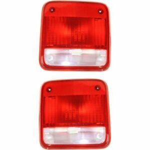 Pair Tail Light for 85-95 Chevrolet G20 & 85-94 P30& 85-95 GMC G2500 LH RH