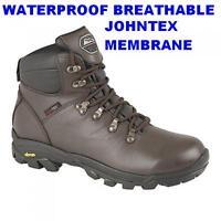 MENS WATERPROOF & BREATHABLE HIKING WALKING BOOTS VIBRAM SOLE JOHNSCLIFFE BODMIN